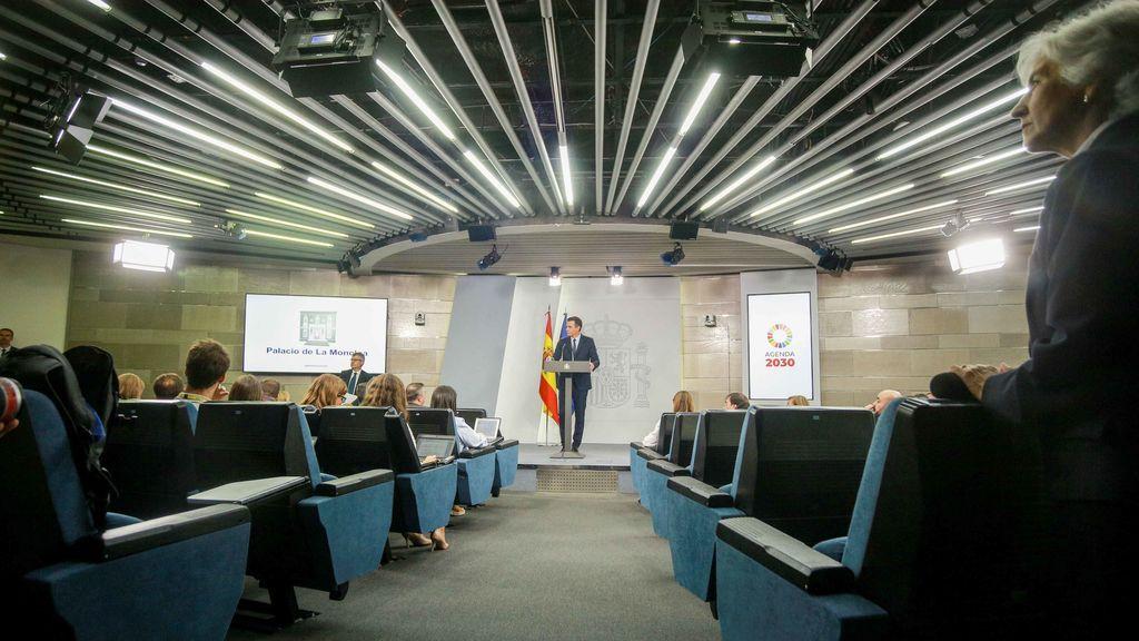 El presidente en funciones comparece en Moncloa