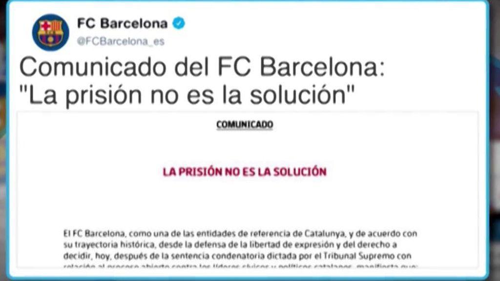 El Barça se posiciona ante la sentencia del procés