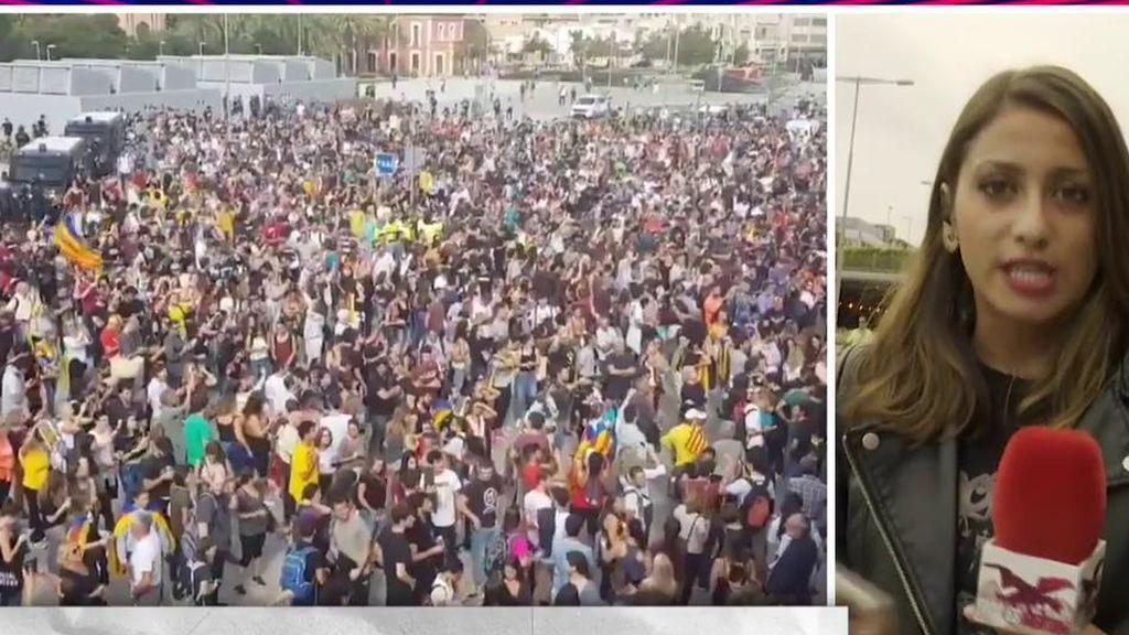 Llegada de 'Todo es mentira ' a Barcelona