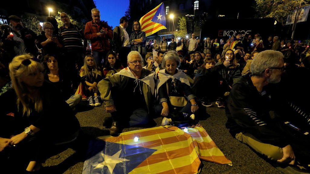 Sentada pacífica en Barcelona
