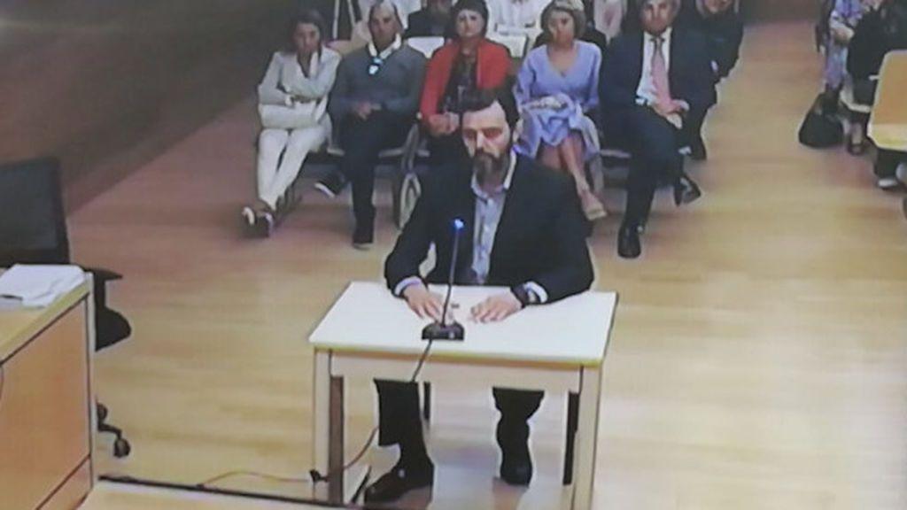Miguel López esta mañana en el juicio