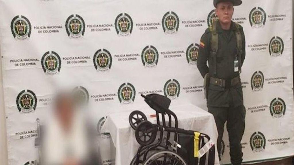 Viajaba a España desde Colombia:  Con 80 años era 'mula' y ocultaba la droga en la silla de ruedas