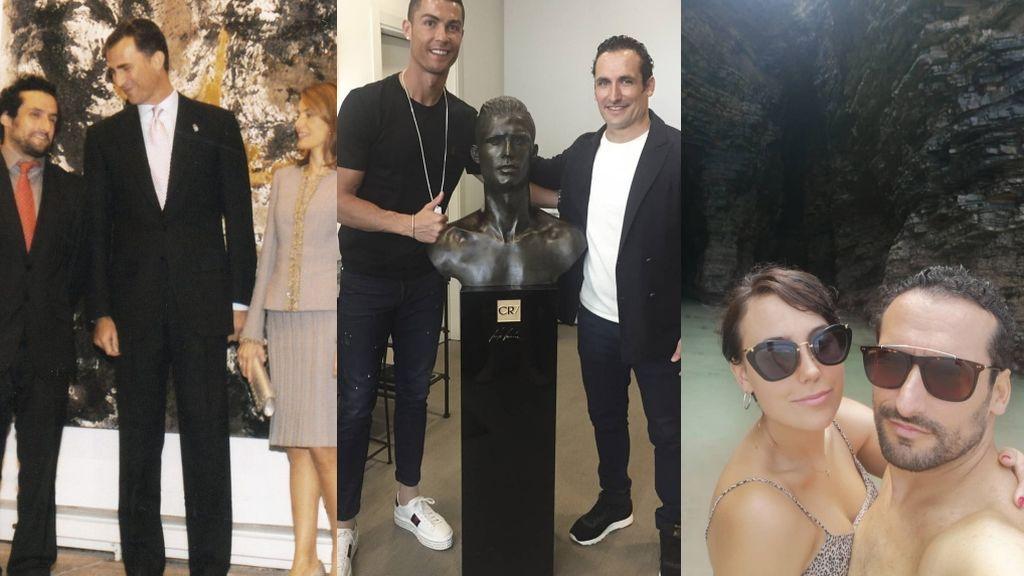 Carlos García, uno de los artistas favoritos de Letizia, entra en la corte de Cristiano Ronaldo como cuñado