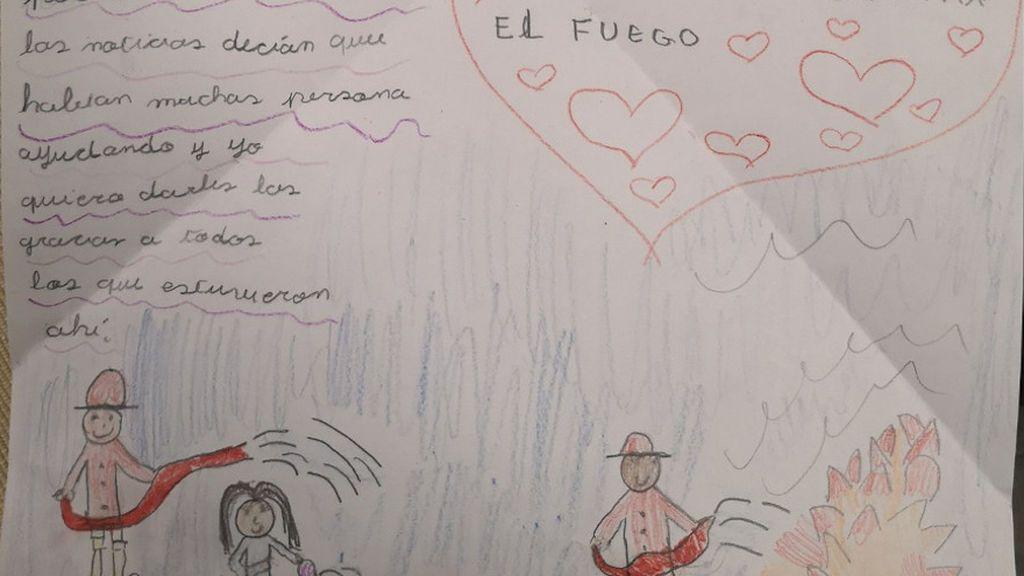 """La carta de una niña de 9 años dirigida a """"los mejores bomberos del mundo"""" recibe respuesta"""