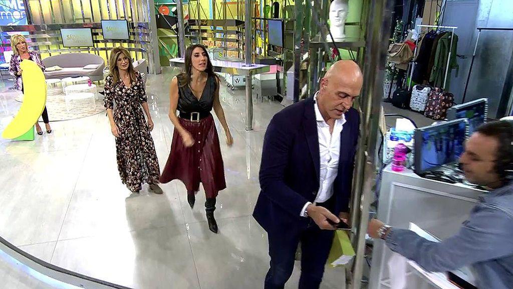 Paz Padilla rompe el móvil de Kiko Matamoros en su primer 'Sálvame Banana'