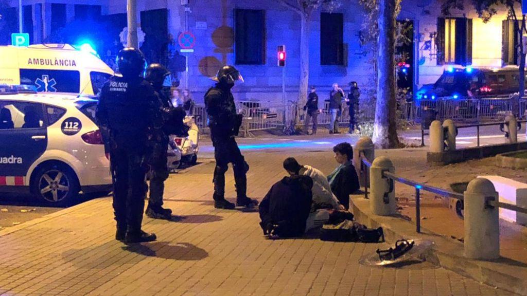 Detenidos por las concentraciones en Barcelona