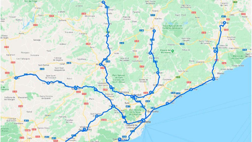Las marchas por la libertad han salido este miércoles desde cinco puntos de Cataluña rumbo a Barcelona