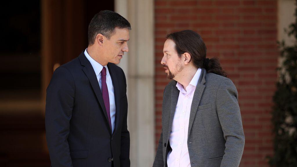 Pablo Iglesias comparece tras reunirse con Pedro Sánchez