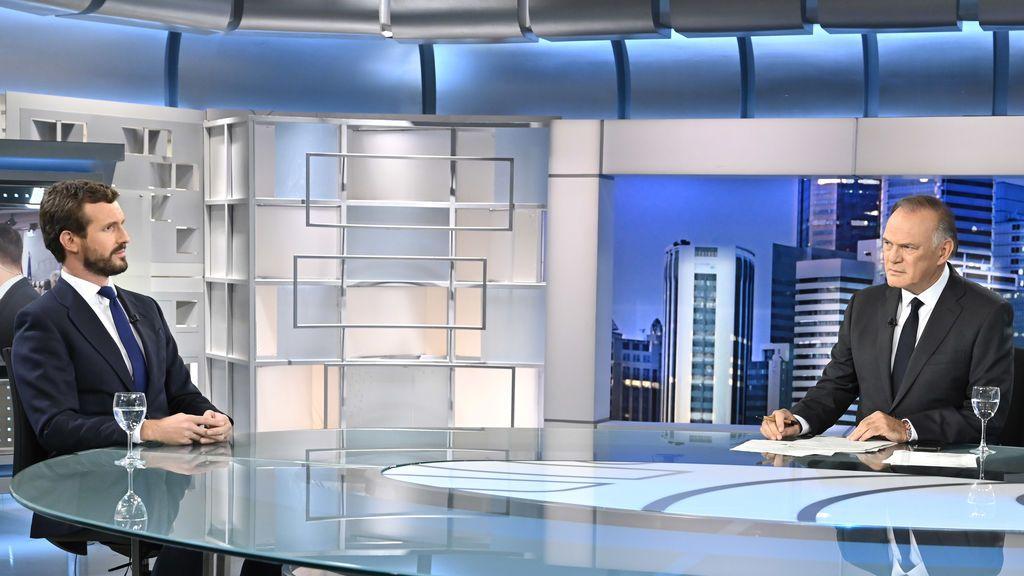 Pablo Casado en 'Informativos Telecinco'