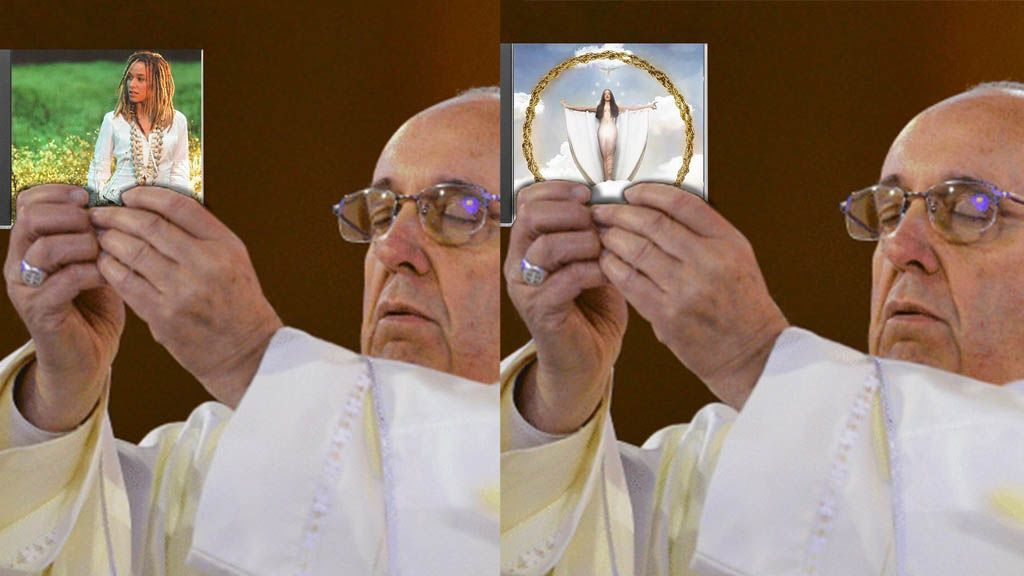 El Papa bendiciendo tu disco