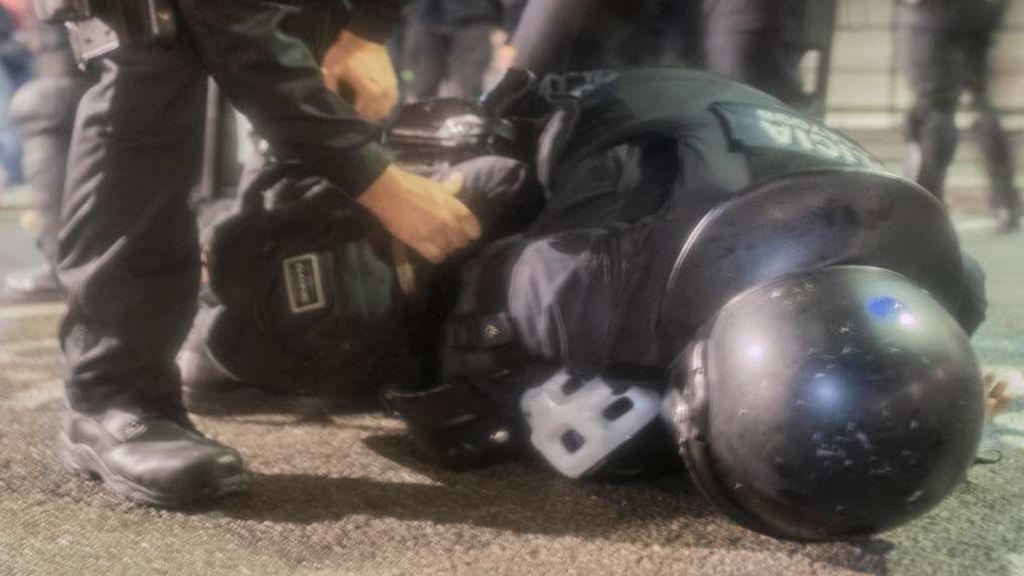 Balance de los disturbios en Cataluña: 74 heridos y 28 detenidos