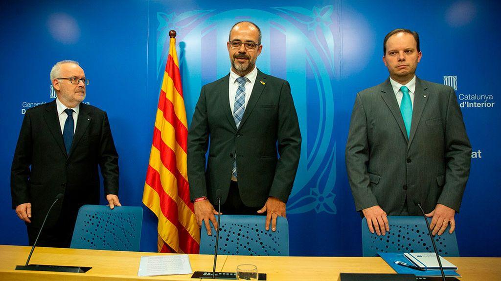 El conseller de Interior, Miquel Buch, valora los incidentes de las últimas horas en Cataluña