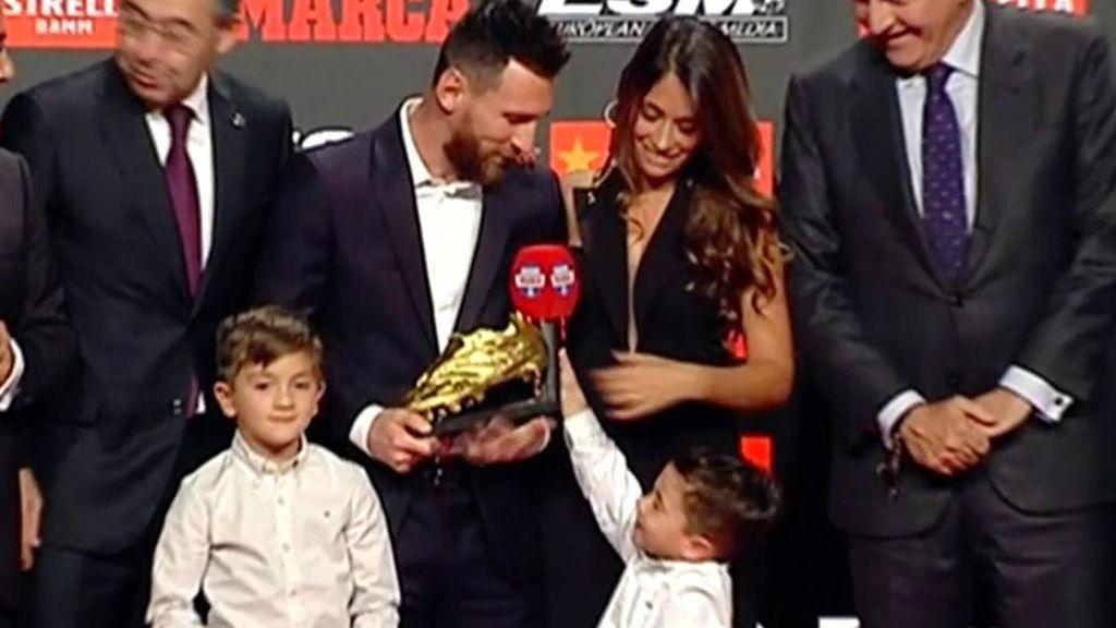 Messi recoge su sexta bota de oro
