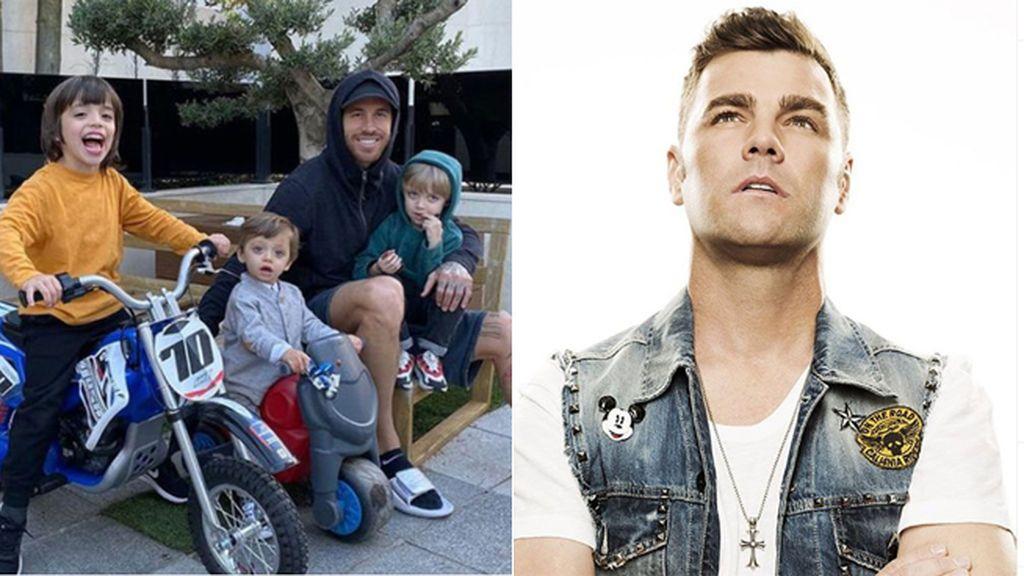 """Sergio Ramos regala una moto a su hijo y se lleva el consejo de Fonsi Nieto: """"Estás loco hermano"""""""