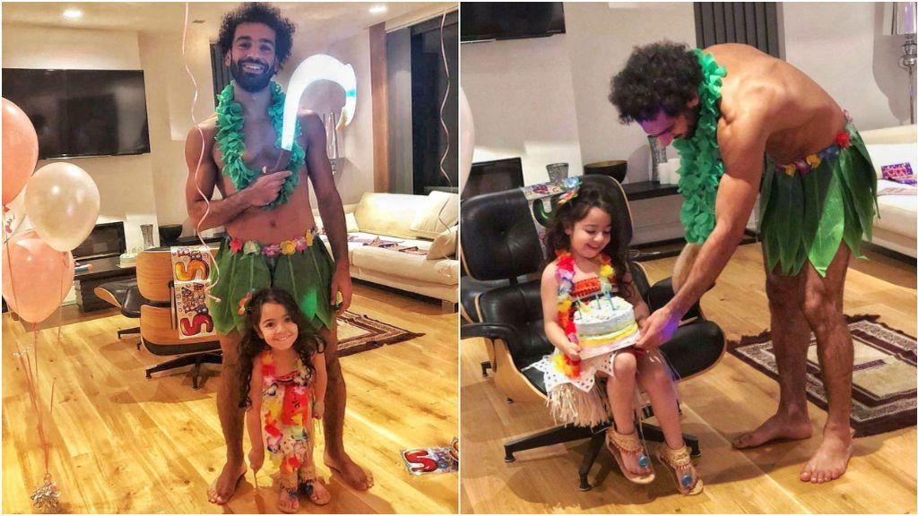 """Salah sorprende a su hija pequeña por su cumpleaños disfrazándose de 'Maui': """"Vine por ti princesa"""""""