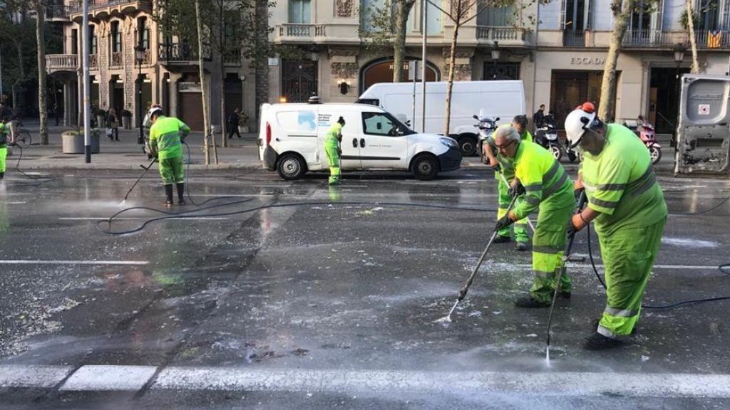 Más de 800.000 euros en 72 horas: Las noches de furia en Cataluña salen caras