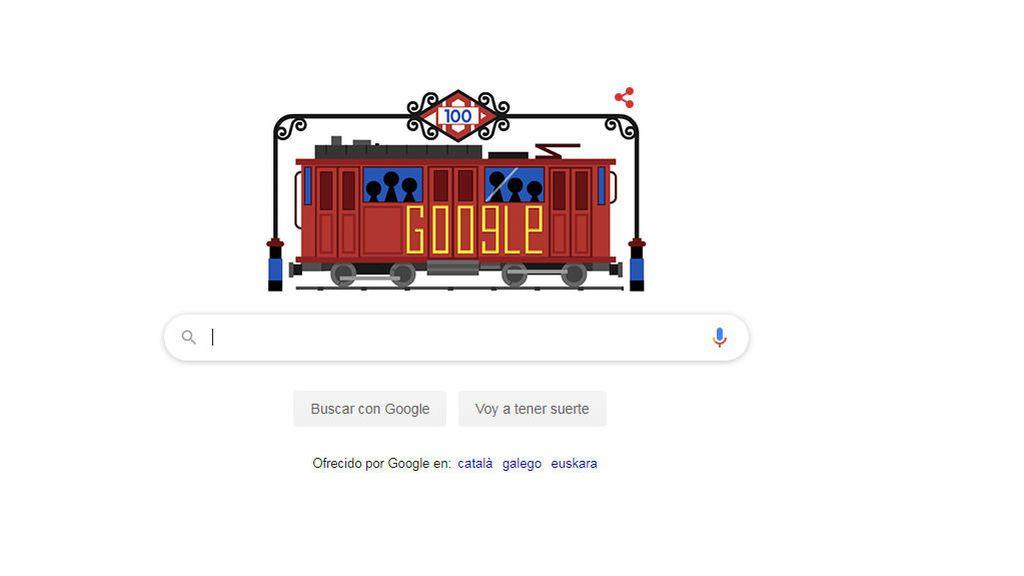 Google rinde homenaje al Metro de Madrid con su 'doodle'