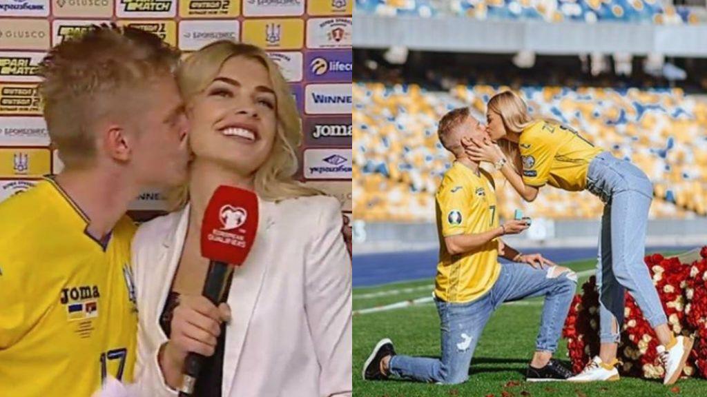 Zinchenko le pide matrimonio a la periodista que besó a lo Iker Casillas a Sara Carbonero