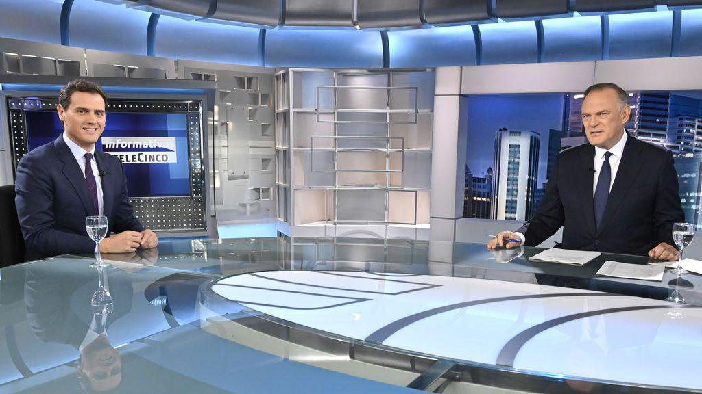 Albert Rivera en 'Informativos Telecinco'