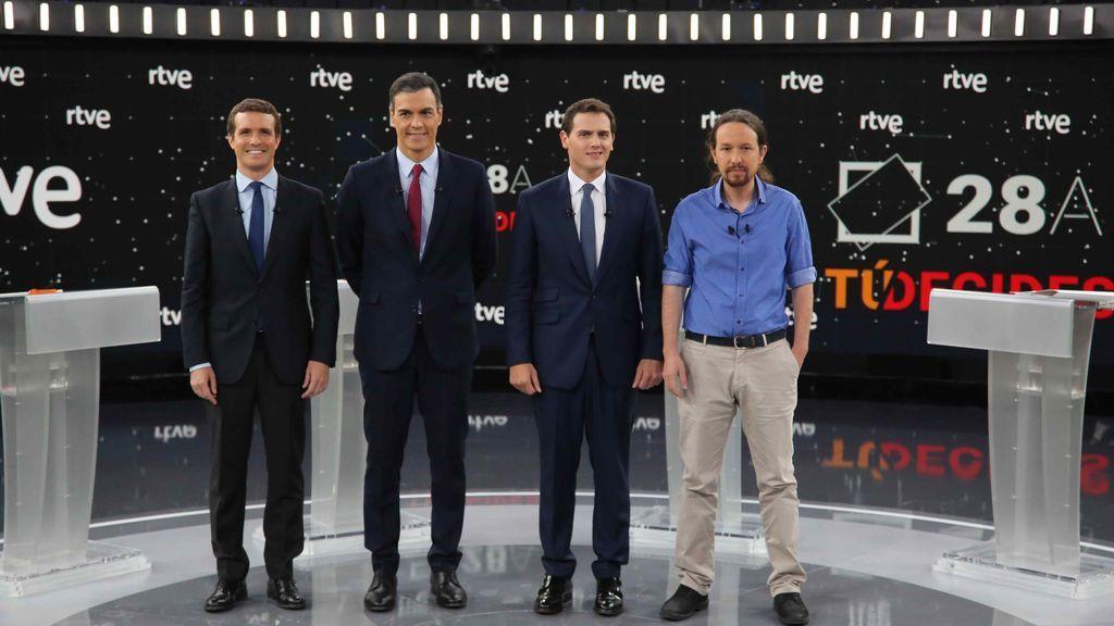 Imagen del debate electoral en las elecciones de abril