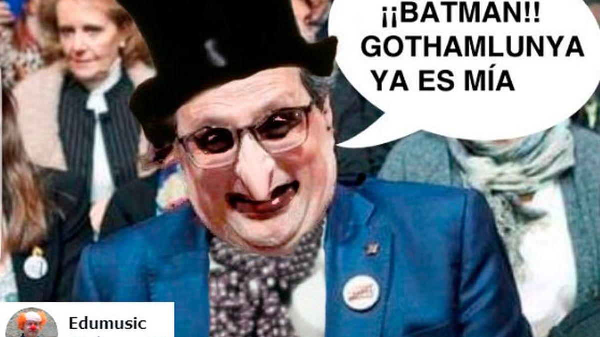 """Reír por no llorar con la tensión catalana: de Torra 'el pingüino' de Batman al troleo del """"hombre Fairy"""""""