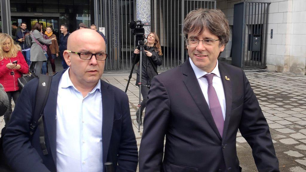Puigdemont, en libertad y sin medidas cautelares tras declarar ante el juez belga
