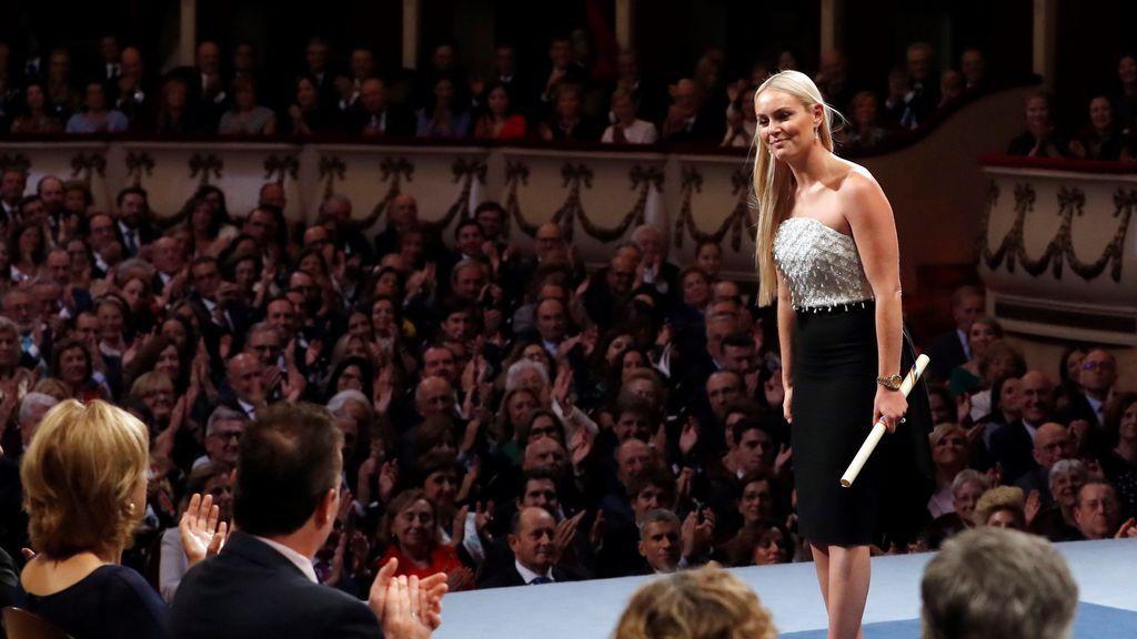 La esquiadora estadounidense Lindsey Vonn tras recibir el premio Princesa de Asturias de los deportes 2019