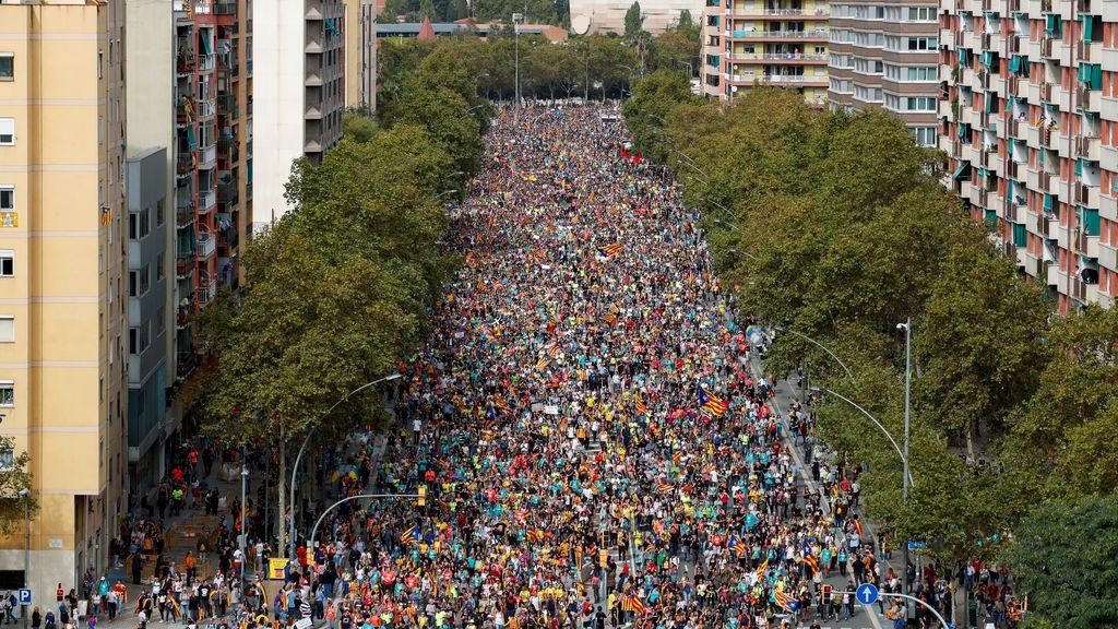 Lar Marchas por la Libertad llegan a Barcelona