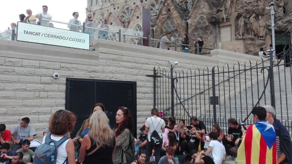 La Sagrada Familia cierra sus puertas debido a una protesta independentista