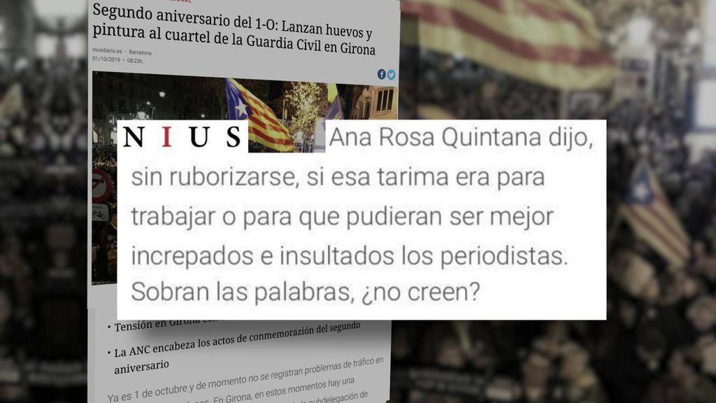 La acusación de Jordi Sánchez a Ana Rosa