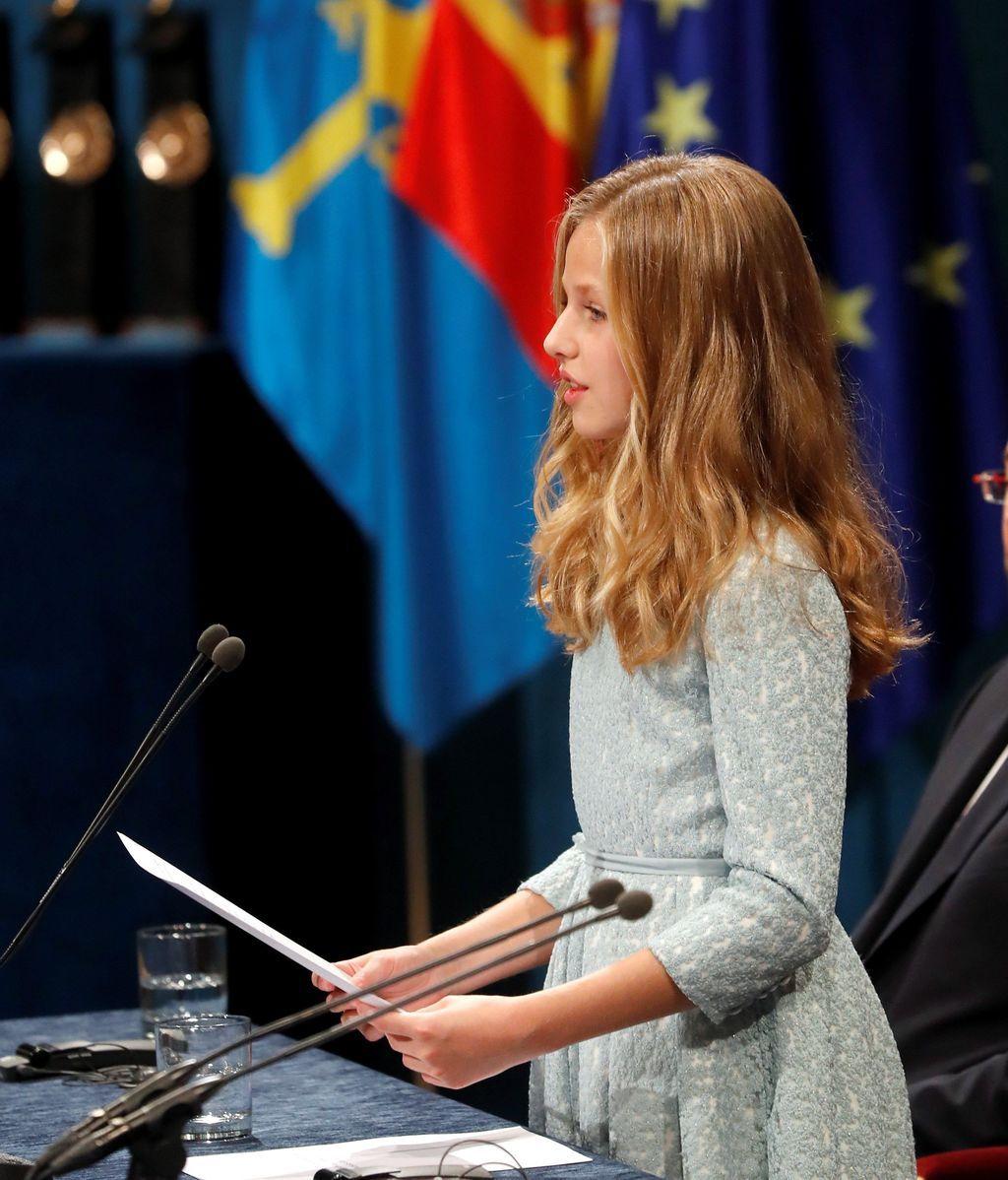 - La princesa Leonor pronuncia su discurso, el primero en su condición de heredera de la Corona