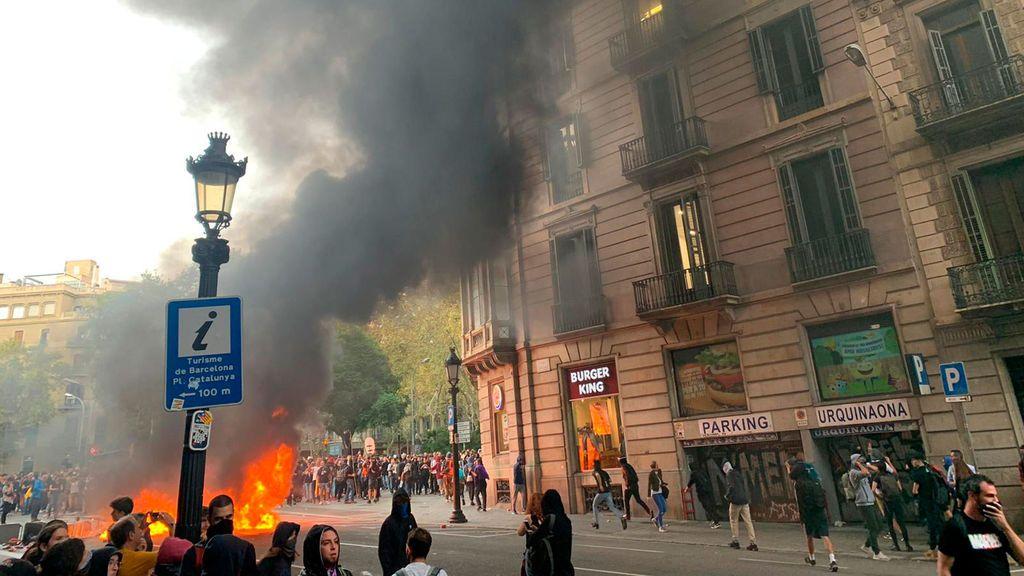 Incendio en Plaza de Urquinaona