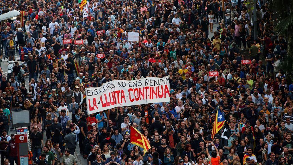 Miles de manifestantes en Barcelona
