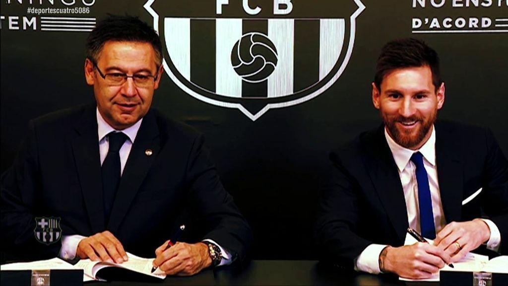 Messi no quiere un contrato vitalicio con el Barcelona aunque no se ve fuera