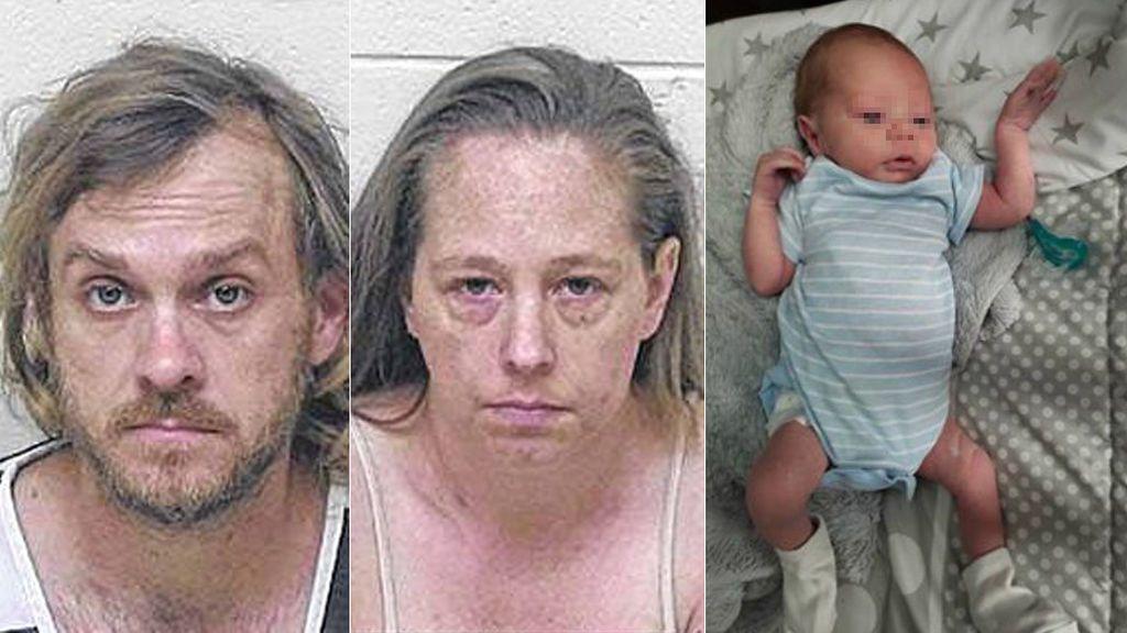 Acusados de matar a su bebé al que encontraron en el fondo de un pozo en cajas de leche encadenadas
