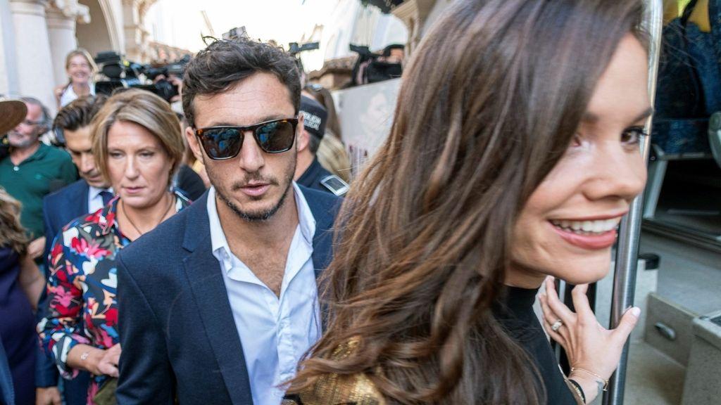 El tenista argentino Juan Mónaco y Diana Arnopoulos