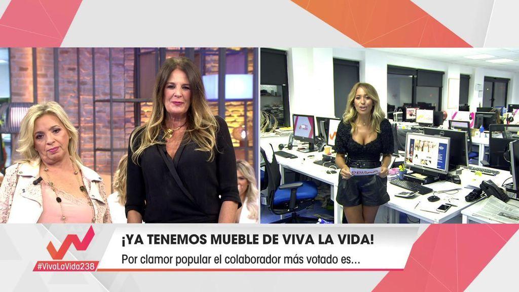Ángela Portero, elegida mueble de 'Viva la vida'