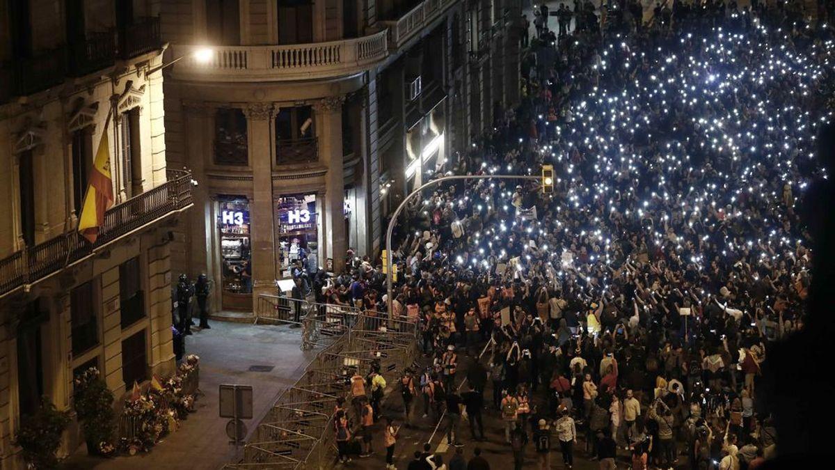 Un centenar de detenidos y cientos de heridos cierran una semana de protestas contra la sentencia del 'procés'