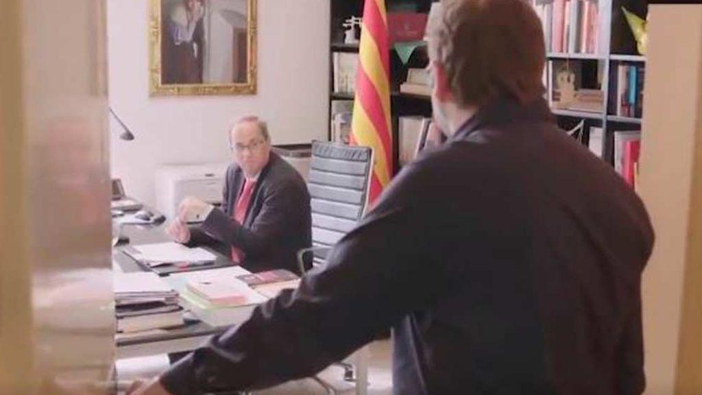 Quim Torra graba en video el momento en el que le comunican que Moncloa no coge el teléfono
