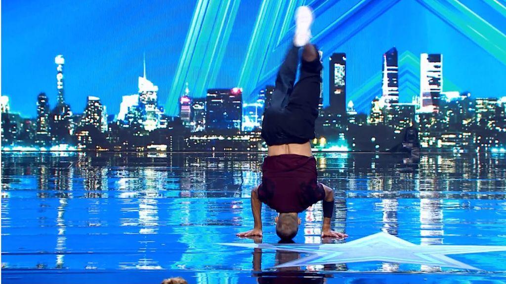 Vladimir ofrece un increíble espectáculo de break dance en 'Got Talent'