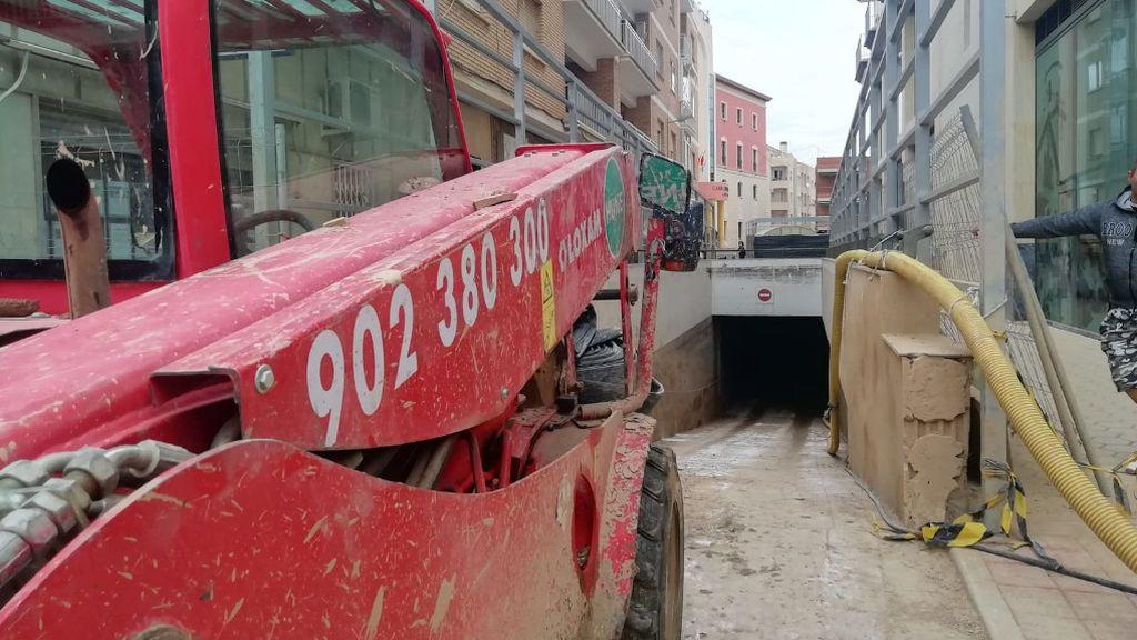 Extraen agua de los sótanos en Los Alcázares