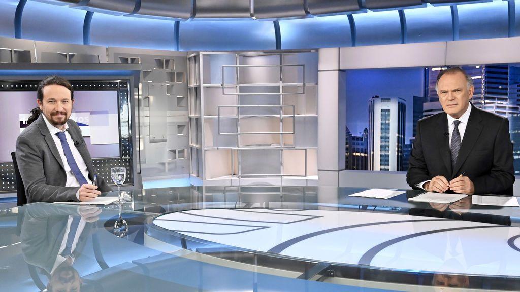 Pablo Iglesias en 'Informativos Telecinco'