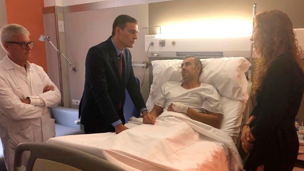 Pedro Sánchez,  en el hospital