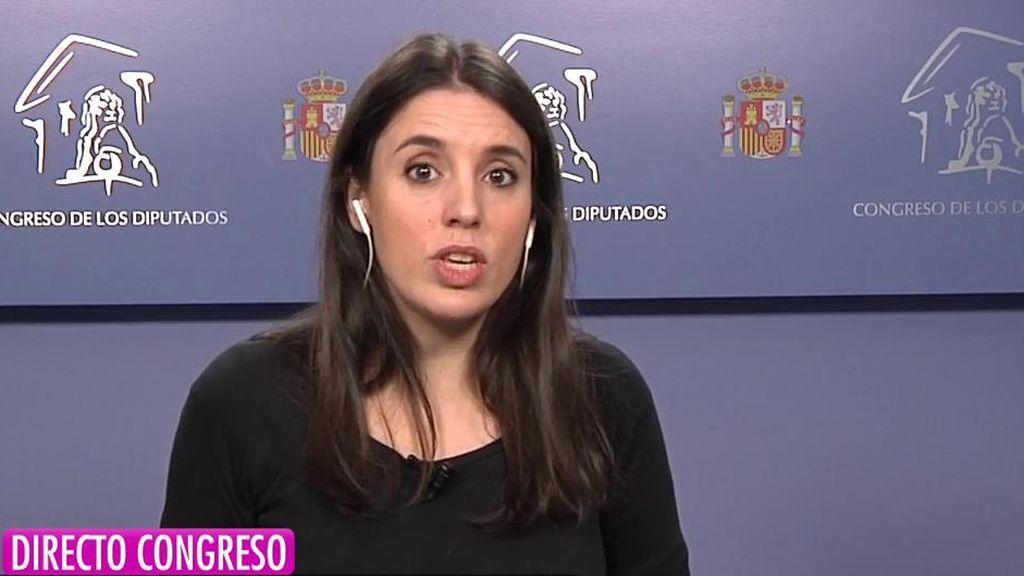 Irene Mntero habla sobre la cuestión catalana