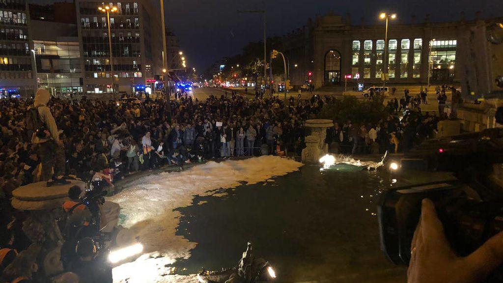 La protesta en Cataluña muta en incidentes de baja intensidad