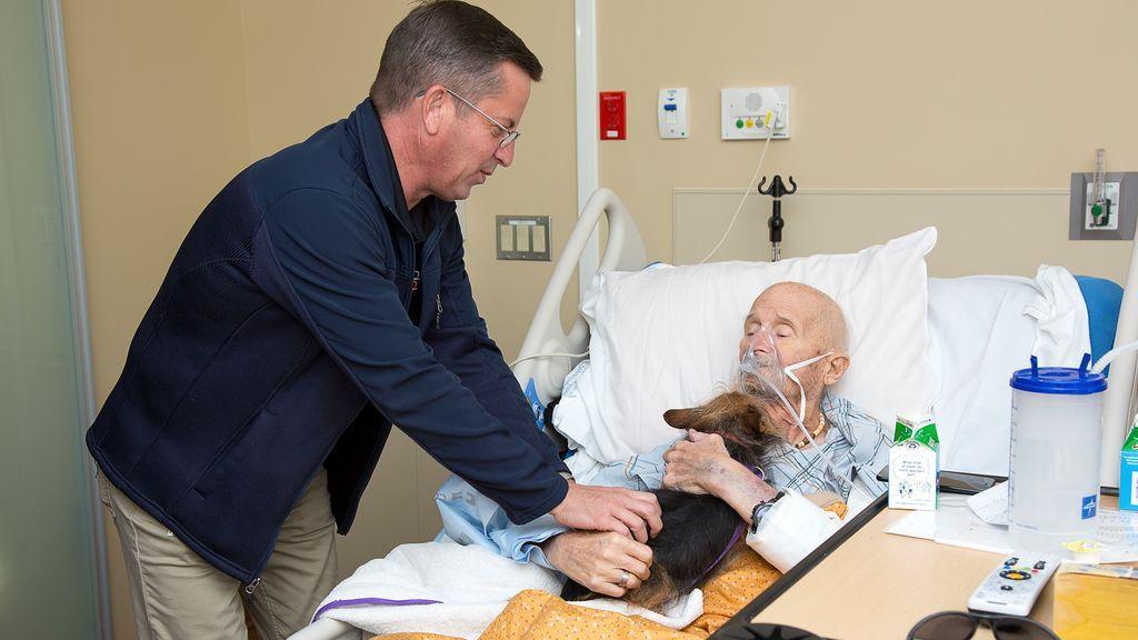 Un veterano de Vietman en cuidados paliativos pudo despedirse de su perro