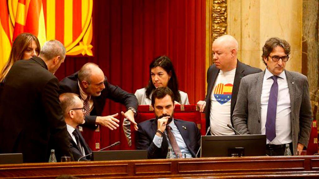 Han podido seguir en directo la comparecencia de Torrent tras la reunión de la Mesa del Parlament