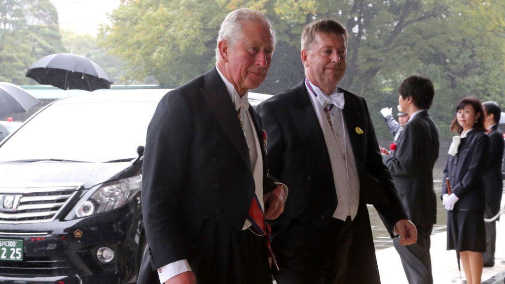 El príncipe Carlos de Inglaterra también ha presenciado la ceremonia de entronización de Naruhito