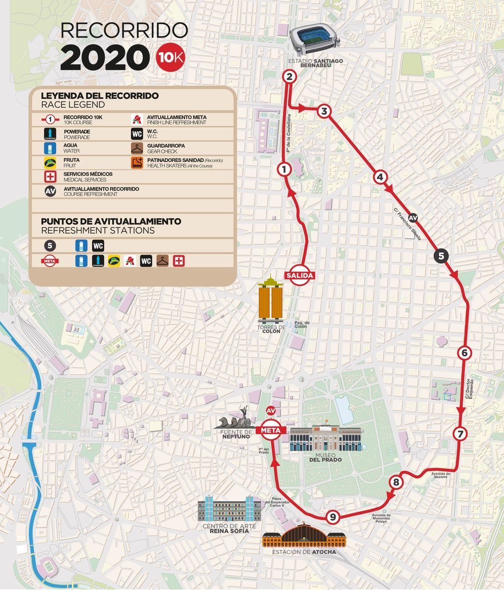 Recorridos EDP Rock 'n' Roll Madrid Maraton & 1/2