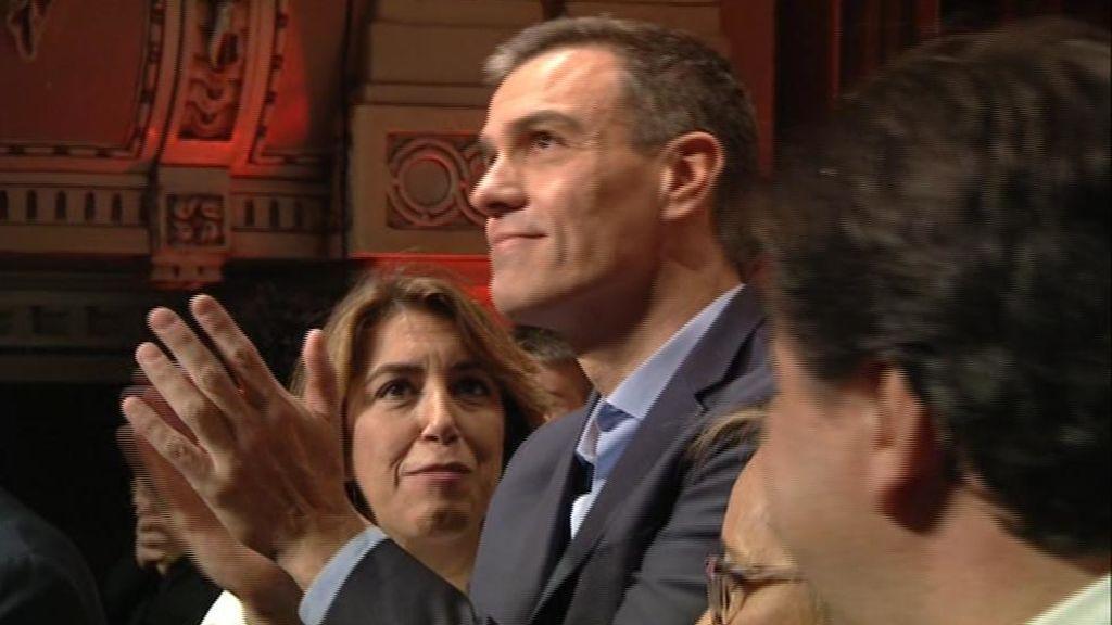Sánchez,l en su mitin en Huelva
